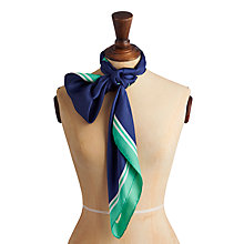 Buy Joules Clarence Peony Silk Scarf , Navy Online at johnlewis.com