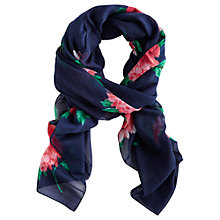Buy Joules Wensley Peony Scarf, Navy Online at johnlewis.com
