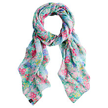 Buy Joules Wensley Chelsea Floral Print Scarf, Multi Online at johnlewis.com