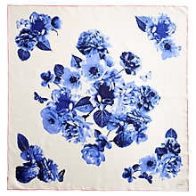 Buy Joules Clarence Butterfly Silk Scarf, Blue Online at johnlewis.com
