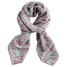 Buy Joules Julianne Ditsy Scarf, Cream/Pink Online at johnlewis.com