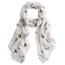 Buy Joules Wensley Butterfly Print Scarf, Cream Online at johnlewis.com