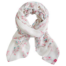 Buy Joules Wensley Blossom Scarf, Cream Online at johnlewis.com