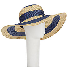 Buy Joules Mandy Stripe Sun Hat, Blue Online at johnlewis.com