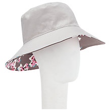 Buy Joules Celia Reversible Hat, Taupe Online at johnlewis.com