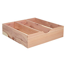 Buy John Lewis Croft Collection Cedar Wood Drawer Storage Box, Large Online at johnlewis.com