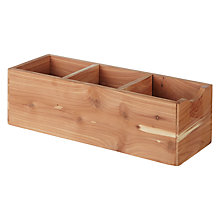 Buy John Lewis Rectangle Croft Cedar Wood Box, Small Online at johnlewis.com