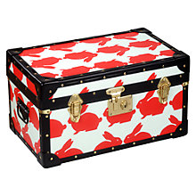 Buy Anorak Kissing Rabbits Steamer Trunk, Multi Online at johnlewis.com