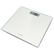 Buy Salter 9037 Digital Bathroom Scale, Glass, White Online at johnlewis.com