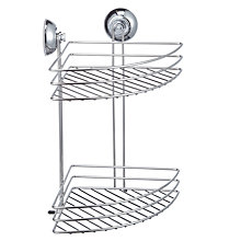 Buy John Lewis 2 Tier Corner Shower Suction Basket Online at johnlewis.com