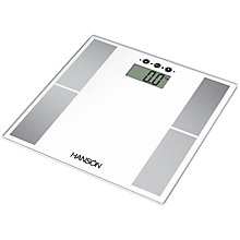 Buy Hanson Body Analyser Scale, White Online at johnlewis.com
