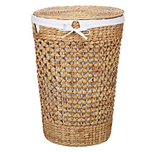 Buy John Lewis Twisted Water Hyacinth Round Laundry Basket Online at johnlewis.com