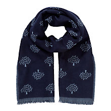 Buy Mulberry Tree Print Merino Wool Scarf, Blue Online at johnlewis.com