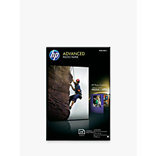 Buy HP Advanced Glossy 10x15 Photo Paper, 25 Sheets Online at johnlewis.com