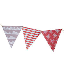 Buy John Lewis Christmas Bunting Online at johnlewis.com
