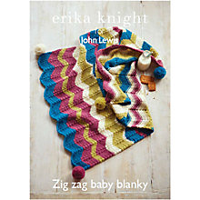 Buy Erika Knight for John Lewis Baby Pram Blanket Knitting Pattern Online at johnlewis.com