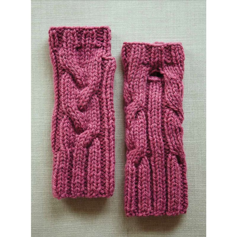 Knitting Pattern John Lewis : Buy Erika Knight for John Lewis Chunky Cable and Rib Mitts Knitting Pattern ...