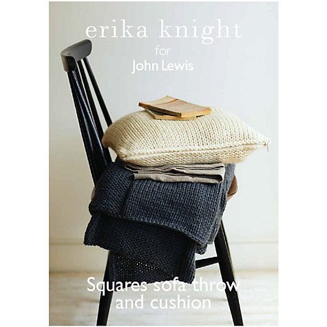 buy erika knight for john lewis sofa throw and cushion. Black Bedroom Furniture Sets. Home Design Ideas