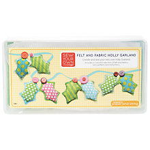 Buy Paper and String Sew Your Own Holly Garland Kit Online at johnlewis.com