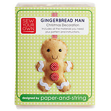 Buy Paper and String Sew Your Own Mini Gingerbreadman Online at johnlewis.com