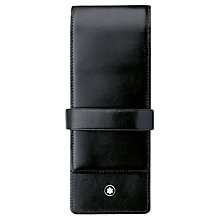 Buy Montblanc Meisterstück 3 Pen Leather Pouch, Black Online at johnlewis.com