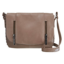 Buy Mint Velvet Sammy Stud Cross Body Leather Bag, Mink Online at johnlewis.com