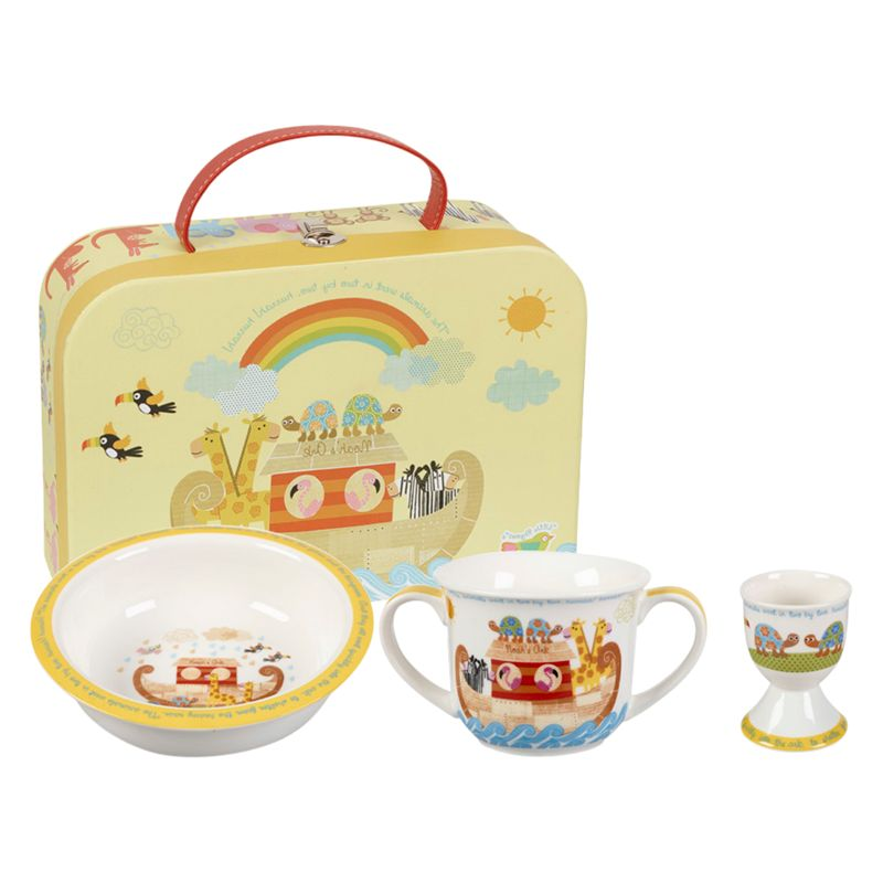 Little Rhymes Little Rhymes Noah's Ark Egg Cup, Bowl and Mug Set