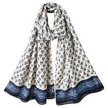 Buy East Booti Print Scarf, Indigo Online at johnlewis.com