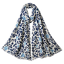 Buy East Abstract Animal Scarf, Wedgewood Online at johnlewis.com