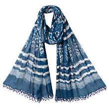 Buy East Saanvi Scarf, Indigo Online at johnlewis.com