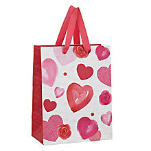 Buy John Lewis Rose and Heart Valentines Gift Bag, Small Online at johnlewis.com