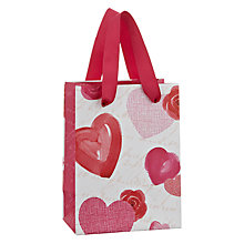 Buy John Lewis Rose and Heart Valentines Gift Bag, Mini Online at johnlewis.com