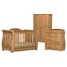 Buy Boori Sleigh Royale Cotbed, Dresser and Wardrobe Set, Teak Online at johnlewis.com