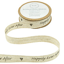 Buy John Lewis Happily Ever After Linen Ribbon, Multi Online at johnlewis.com