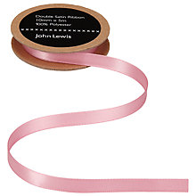 Buy John Lewis Grosgrain Ribbon, 10mm, Dusky Pink Online at johnlewis.com