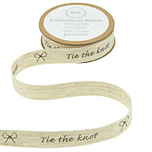 Buy John Lewis Tie the Knot Linen Ribbon, Multi Online at johnlewis.com