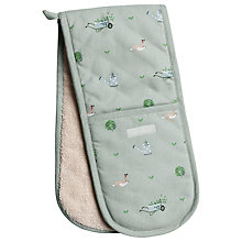 Buy Sophie Allport Green Fingers Oven Mitt, Green Online at johnlewis.com