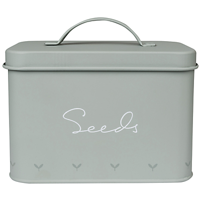 Sophie Allport Green Fingers Tin Seed Box, Green