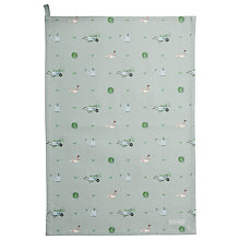 Buy Sophie Allport Green Fingers Tea Towel, Green Online at johnlewis.com