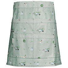 Buy Sophie Allport Green Fingers Oilcloth Half Apron, Green Online at johnlewis.com