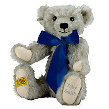 Buy Merrythought Personalised Chester Teddy Bear with Silver Thread Online at johnlewis.com