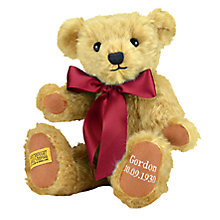 Buy Merrythought Personalised Shrewsbury Teddy Bear with Silver Thread Online at johnlewis.com