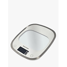 Buy Salter Curve Glass Electronic Kitchen Scale, White Online at johnlewis.com