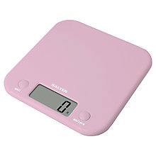 Buy Salter Pastel Pink Electronic Kitchen Scale Online at johnlewis.com