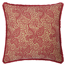 Buy John Lewis Gracie Floral Cushion, Red Online at johnlewis.com