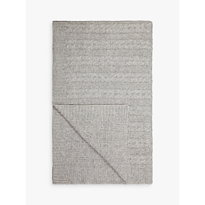 John Lewis Croft Collection Cashmere Blend Cable Knit Throw