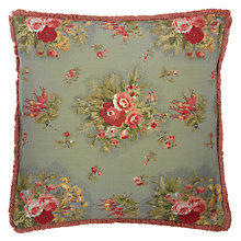 Buy John Lewis Gracie Floral Cushion, Blue Online at johnlewis.com