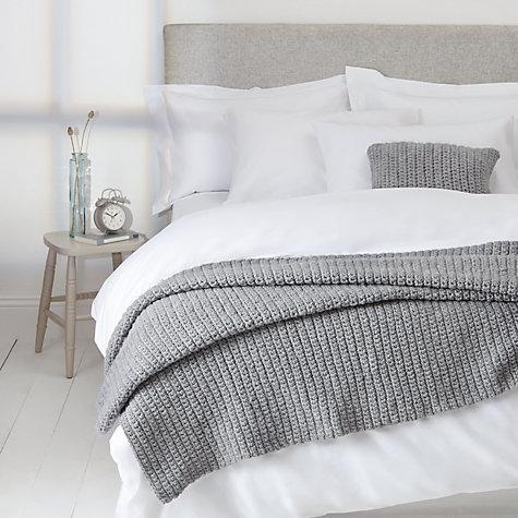 buy john lewis croft collection ribbed knit throw john lewis. Black Bedroom Furniture Sets. Home Design Ideas