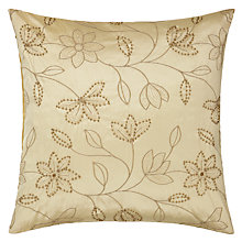Buy John Lewis Floral Trail Silk Embroidered Cushion Online at johnlewis.com