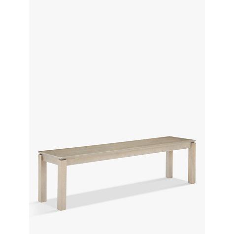 Buy John Lewis Asha 3 Seater Dining Bench Grey John Lewis